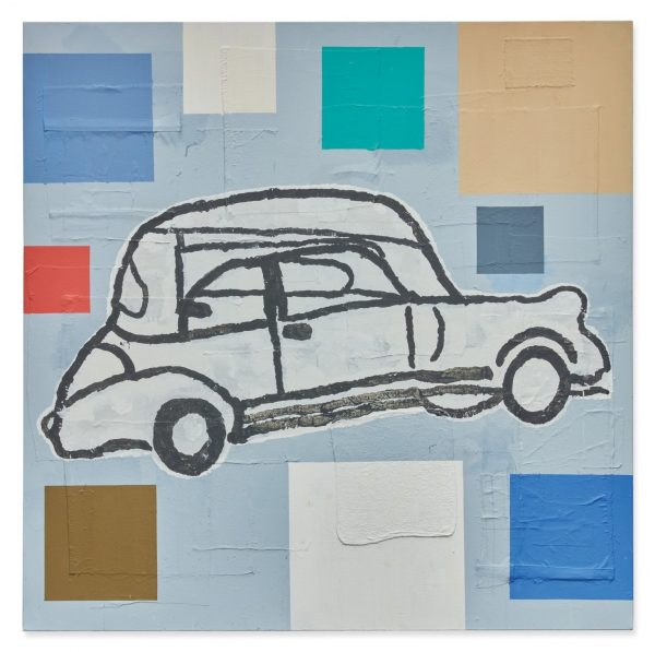 Abstract Painting with Car - Donald Baechler