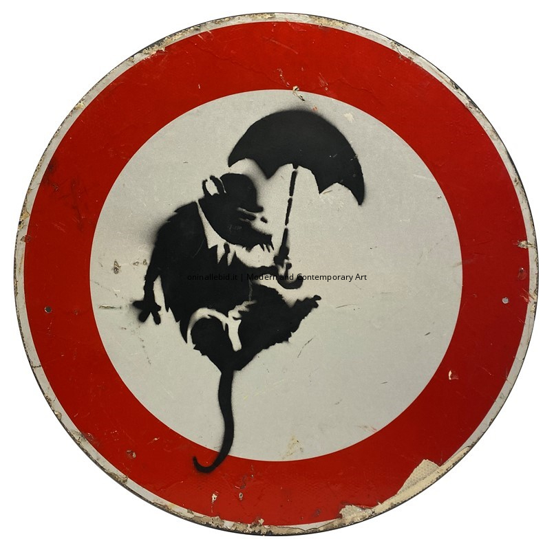 Umbrella Rat - Banksy - oninallebid.it